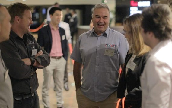 client informal chatting at m500